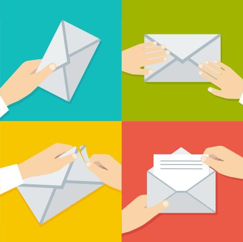 Different types of envelope sealing
