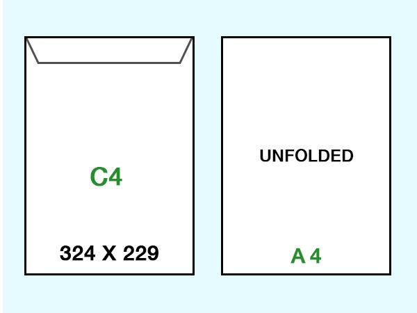 custom c4 envelope printing 324 x 229mm australia wide delivery